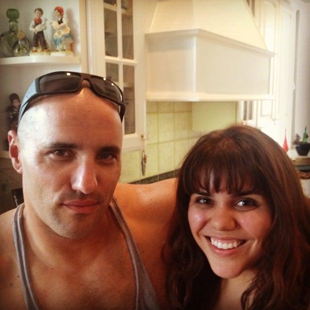 Brooke Markham with her boyfriend