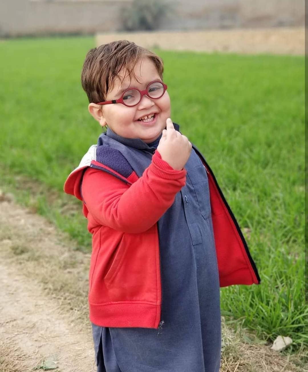 Ahmad Shah Cute Kid HD Photos In Red Jacket