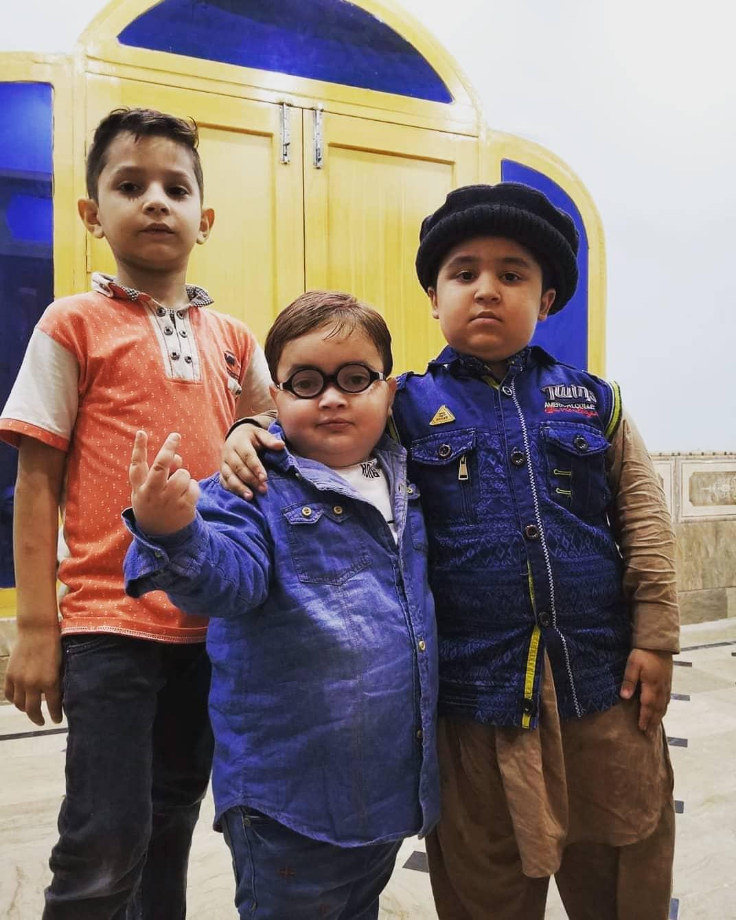 Ahmad Shah Cute Kid with his friends