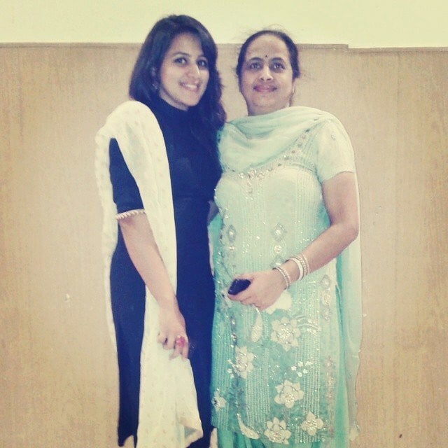 Diksha Juneja with her mother Sashi Juneja