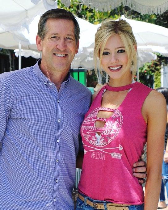 Abby Hornacek With Dad