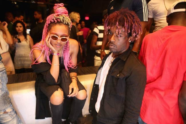 Lil Uzi Vert with Brittany Byrd at a public event in 2016