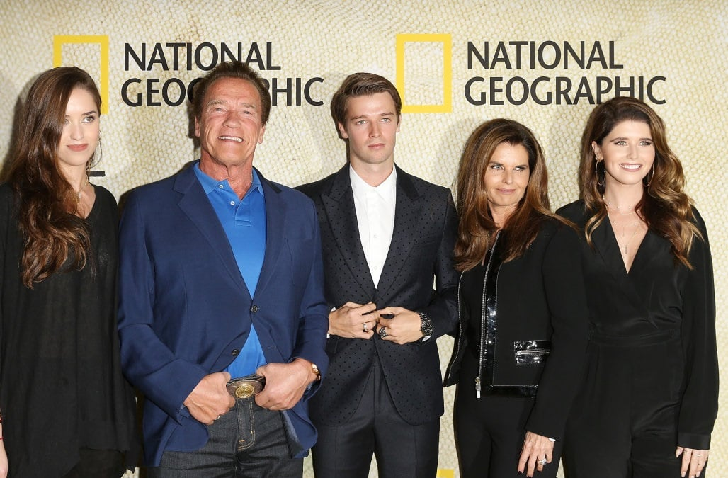 Arnold Schwarzenegger with his Family