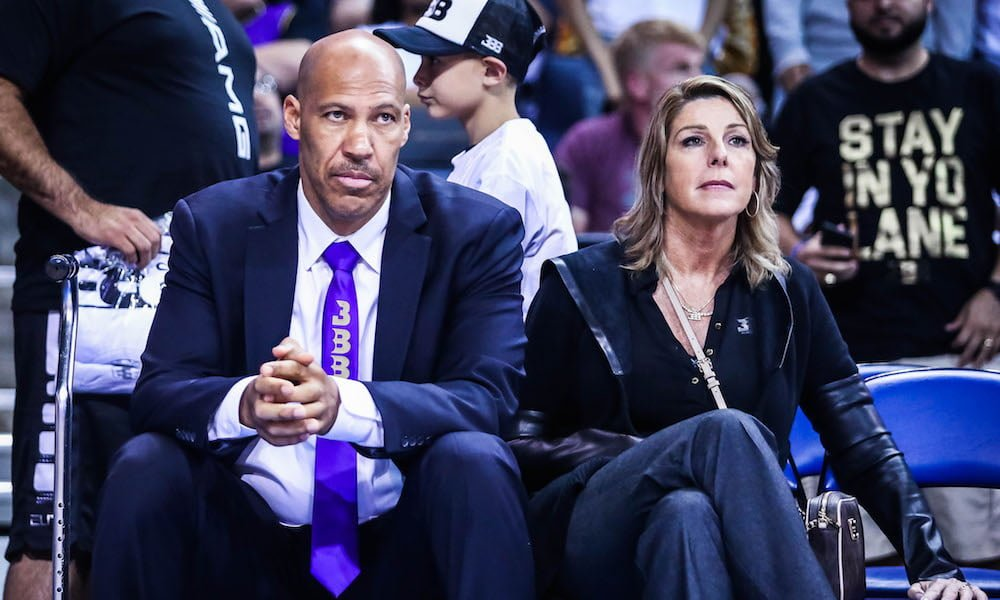 LaVar with his wife Tina Ball