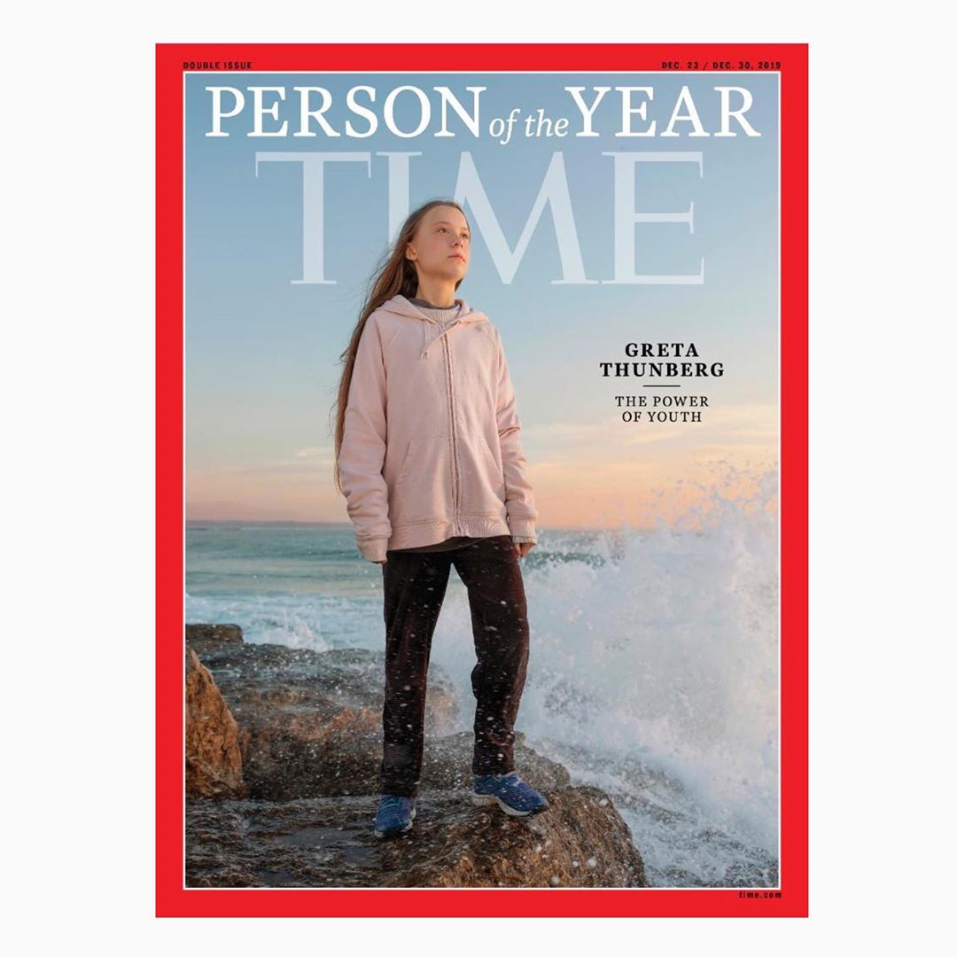 Greta Thunberg featured on the cover of Time magazine as a next-generation leader