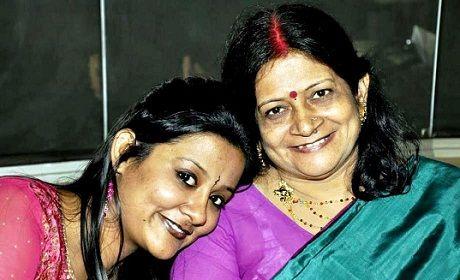 Akanksha Verma with her-mother