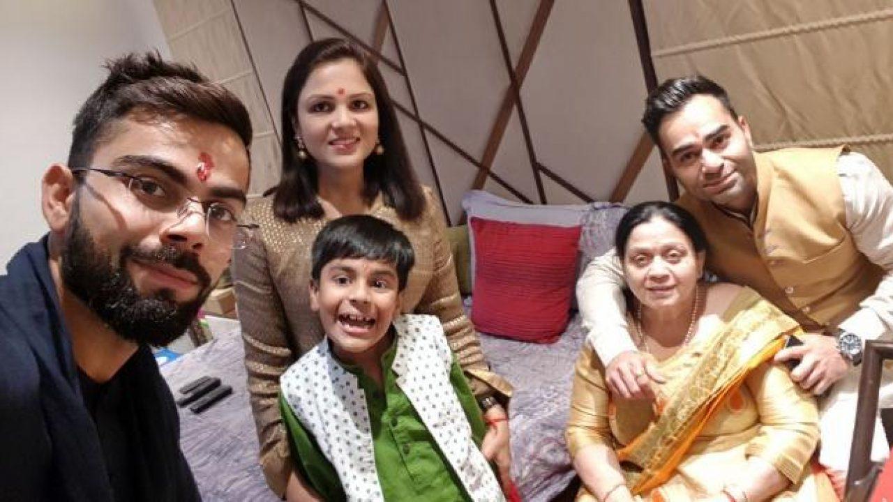Virat Kohli With Family