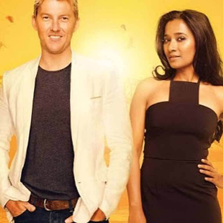 Brett Lee on the cover with his movie wife