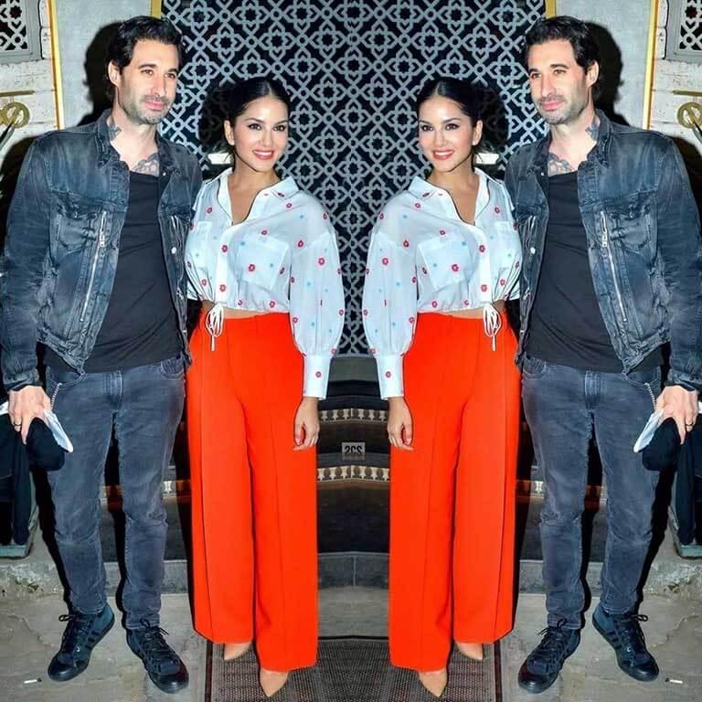 Sunny Leone and her boyfriend