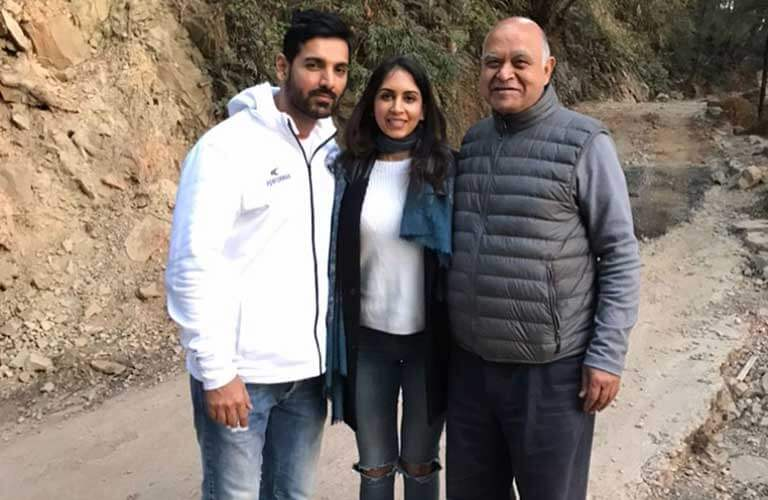 Priya with her father