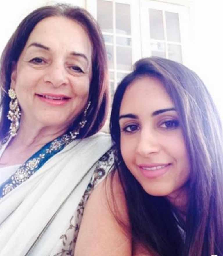 Priya Runchal with her mother